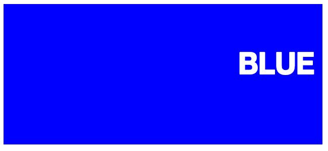 Color html Blue #0000FF