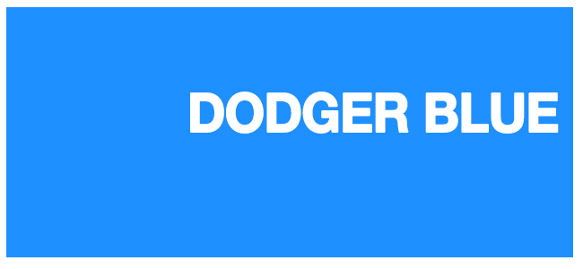 Color html Dodger Blue #1E90FF