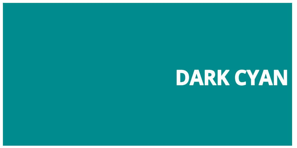 Color html Dark Cyan hex #008b8b