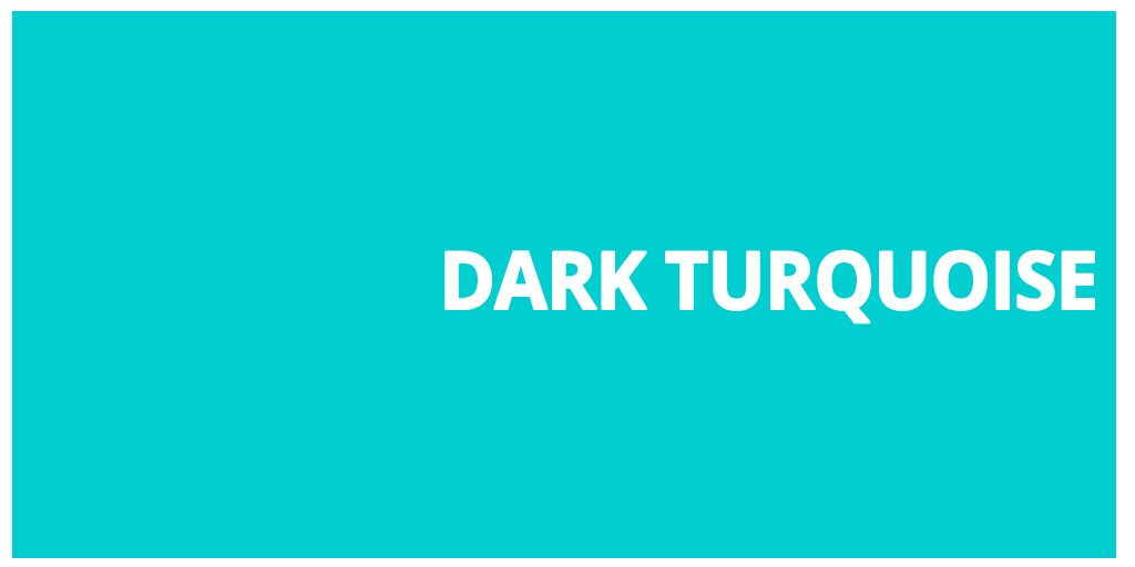 Color html Dark Turquoise hex #00ced1