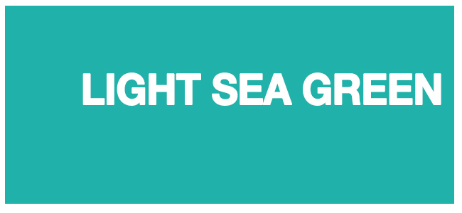 Color html Light Sea Green #20B2AA