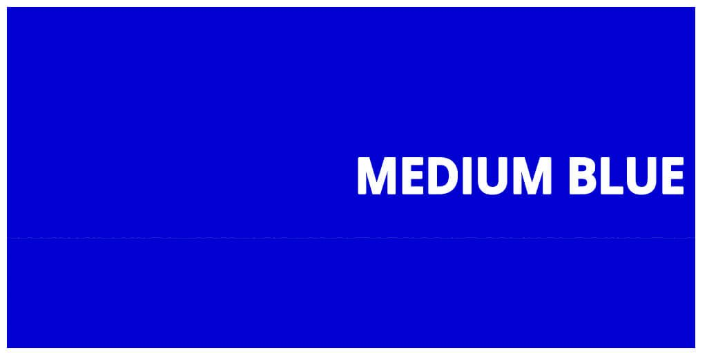 Color Medium Blue hexadecimal #0000CD