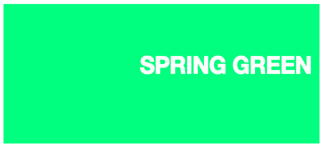 Color html Spring Green #00FF7F