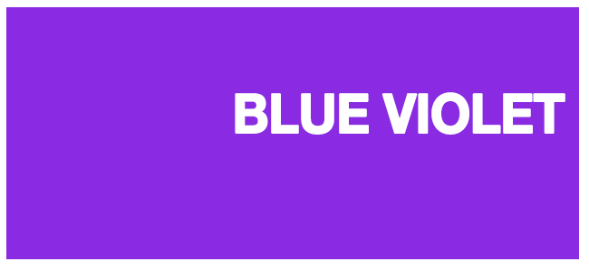 color html Blue violet #8a2be2