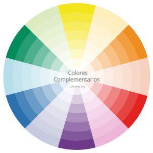 Colores complementarios en el círculo cromático