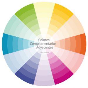 Colores complementarios adyacentes en el círculo cromático
