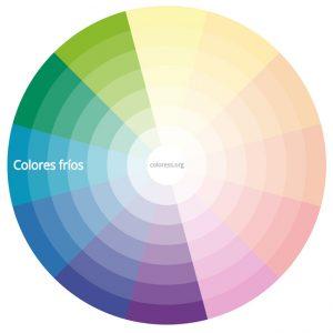 Colores fríos del círculo cromático