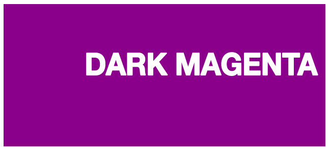 color html Dark magenta #8b008b