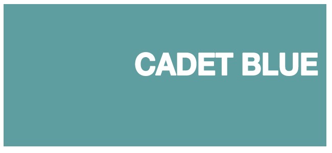 color html Cadet Blue #5f9ea0