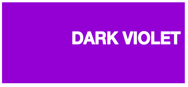 color html Dark Violet #9400d3