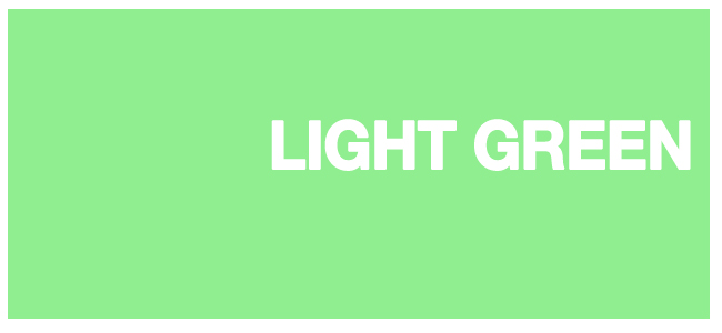 color html Light Green #90ee90