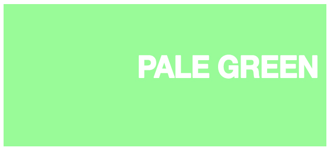 color html Pale Green #98fb98