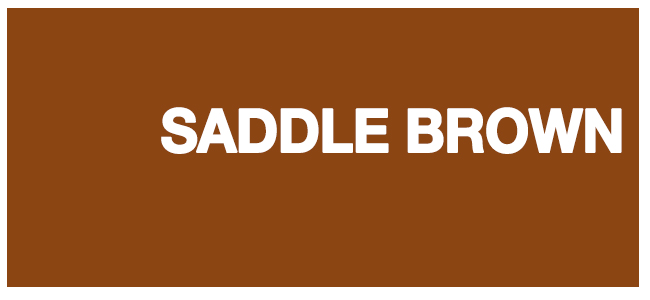 color html Saddle Brown #8b4513