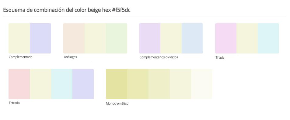 C mo elegir la mejor combinaci n de colores gu a - Colores que combinan con beige ...