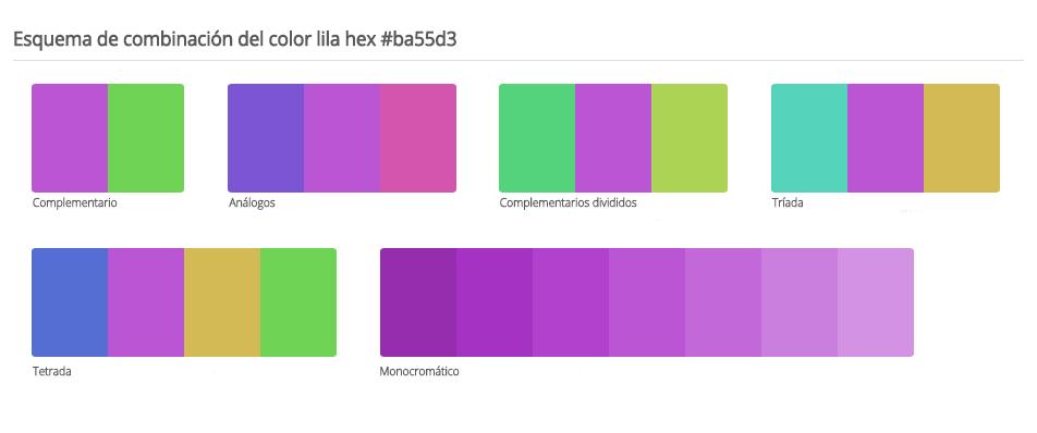 C mo elegir la mejor combinaci n de colores gu a - Que colores combinan con el lila ...