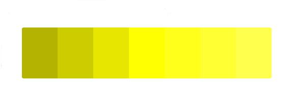 paleta de color amarillo en el significado de los colores