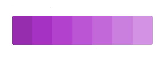 paleta de color para el significado del color morado