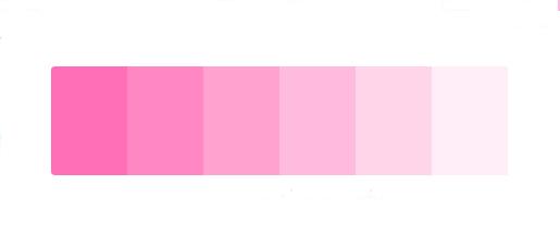 Paleta de color para el significado del color rosa
