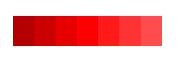 paleta del color rojo en significado de los colores