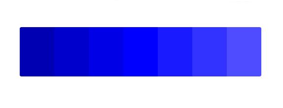paleta de color azul para significado de los colores