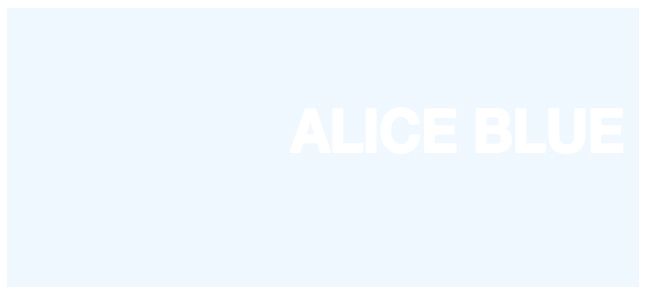 Color html Alice Blue hex #F0F8FF