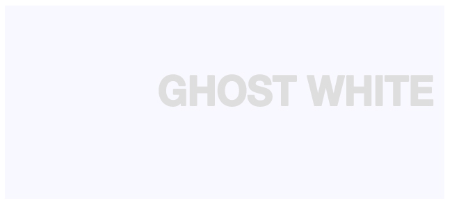 Color html Ghost White hex #F8F8FF