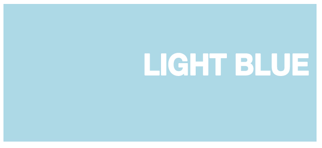 Color html LIGHT BLUE hex #ADD8E6