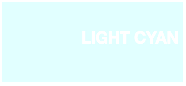 Color html Light Cyan hex #E0FFFF