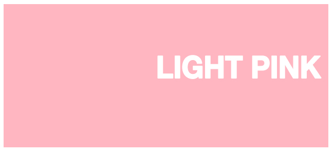 Color html Light Pink hex #FFB6C1