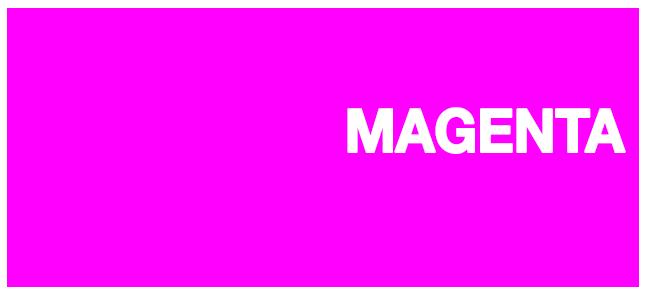 Color html Magenta hex #FF00FF