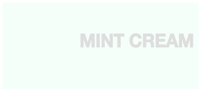 Color html Mint Cream hex #F5FFFA