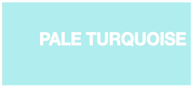 Color html Pale Turquoise hex AFEEEE