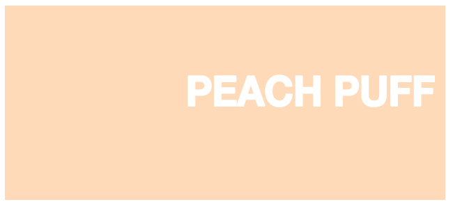 Color html Peach Puff hex #FFDAB9