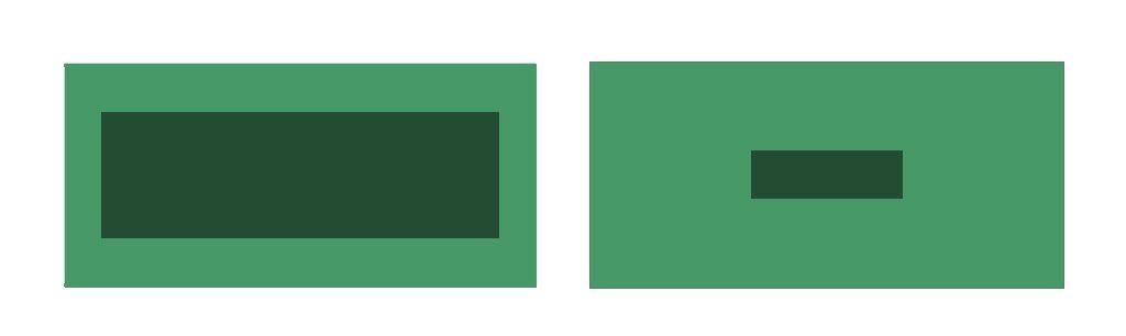 contrastes de colores: cantidad de color