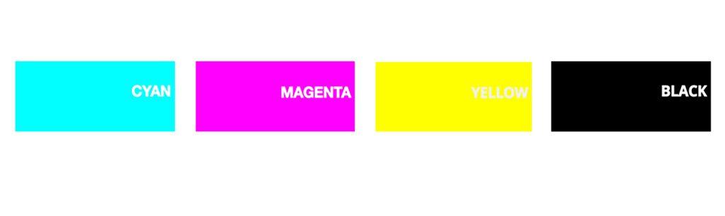 colores primarios CMYK cyan-magenta-yellow-negro