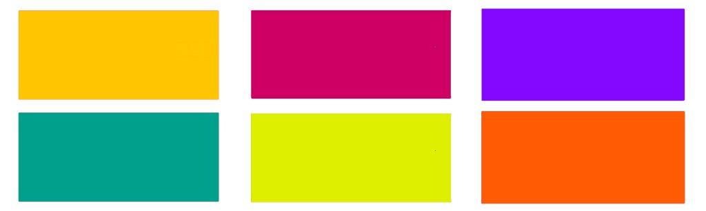 seis colores terciarios