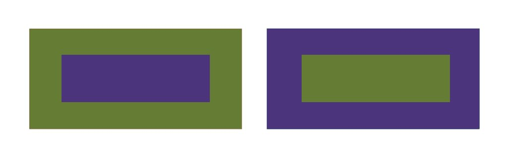contrastes de colores: posición en el círculo cromático