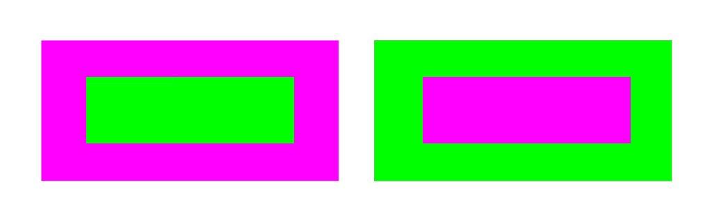 contrastes de colores: saturación