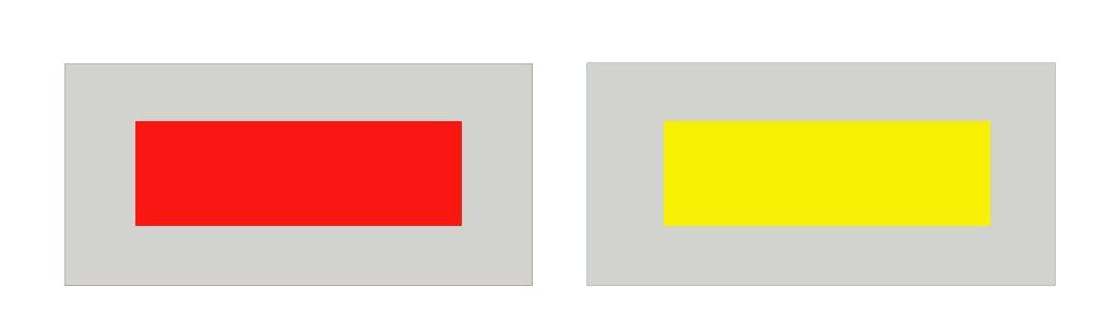 contrastes de colores: simultaneidad