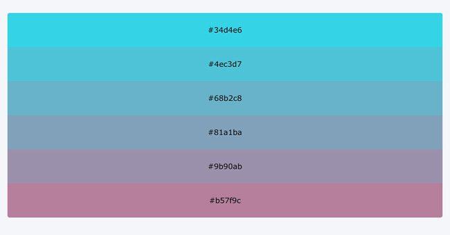 Generador de paletas de colores Colorhexa