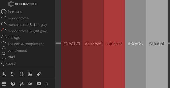 Generador de paletas de colores Colour code