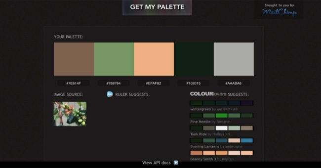 color schemes generator or Color picker Pictaculous